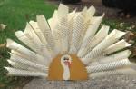 Book Page Turkey Centerpieces